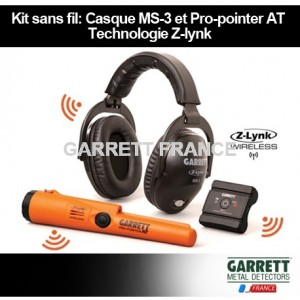 Kit Garrett Casque sans fil MS-3 et Pro-Pointer AT Z-Lynk