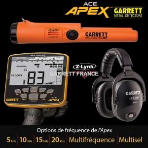 Garrett ACE APEX MS3 et Pro-pointer Z-Lynk