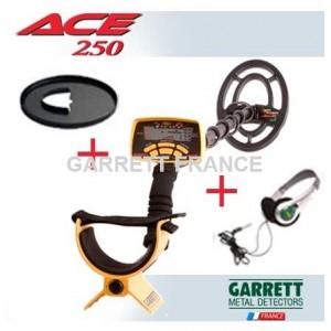 Garrett ACE 250 + Protège disque + Casque
