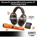 Kit Garrett Casque sans fil MS-3 et Pro-Pointer AT Z-Lynk